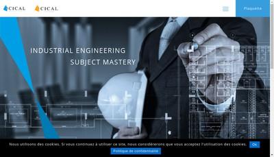 Site internet de Cical Ingenierie et Cybernetique