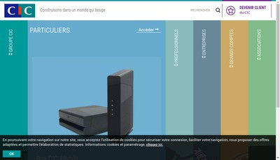 Site internet de Banque Cic Est