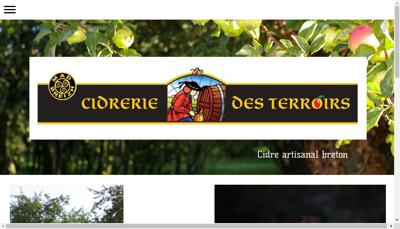 Capture d'écran du site de Cidrerie des Terroirs