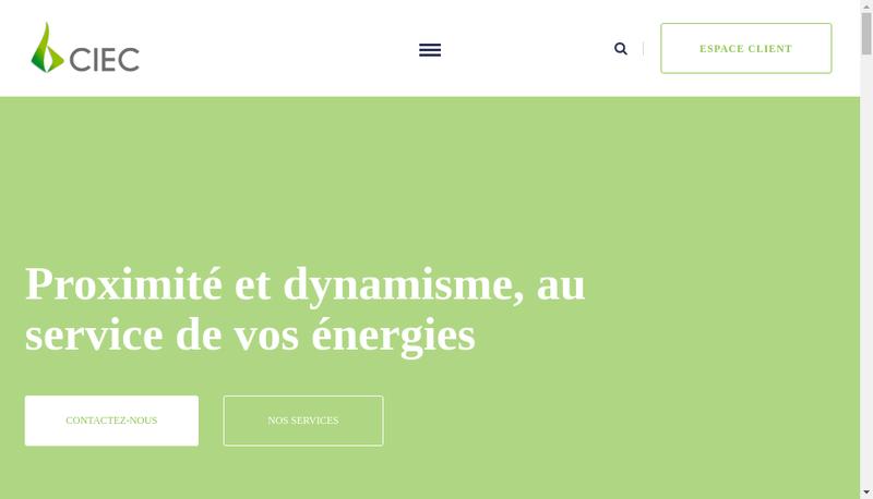 Capture d'écran du site de CIEC