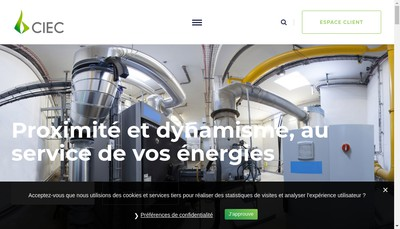 Site internet de Ciec