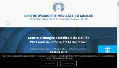 Site internet de Centre d'Imagerie Medicale du Galilee