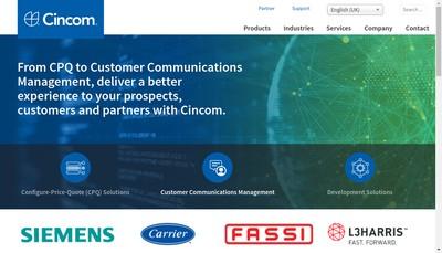 Site internet de Cincom Systems France