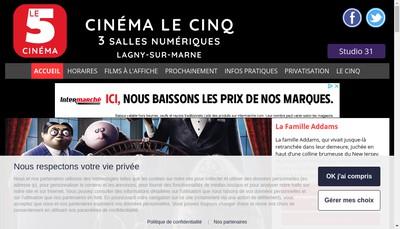 Site internet de SARL les Cinemas de Lagny
