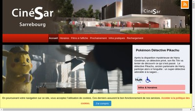 Site internet de Cinesar