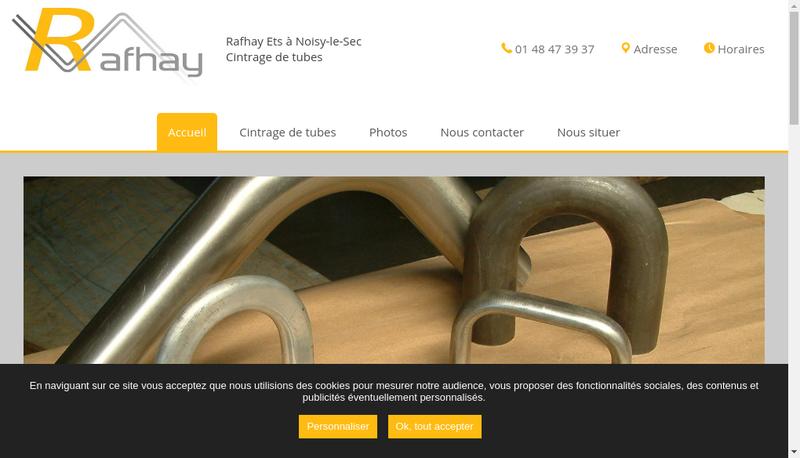 Capture d'écran du site de Rafhay