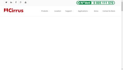 Capture d'écran du site de Cirrus Research France