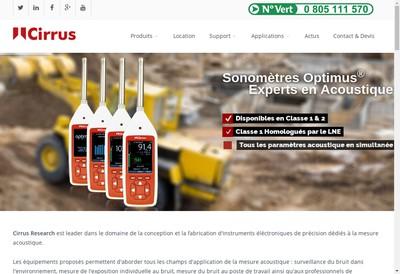 Site internet de Cirrus Research France