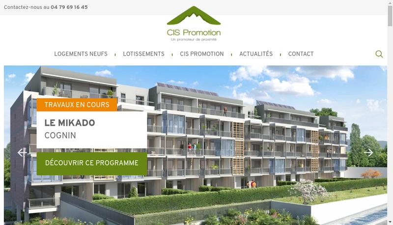 Capture d'écran du site de Cis Promotion