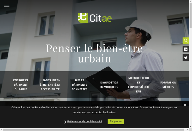 Capture d'écran du site de Citae Formation
