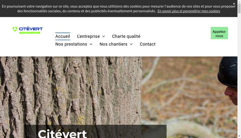 Capture d'écran du site de Citevert