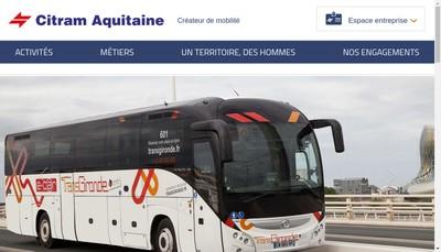 Site internet de Citram Aquitaine