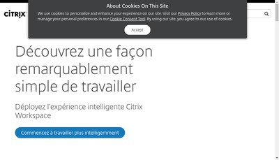 Site internet de Citrix Systemes France