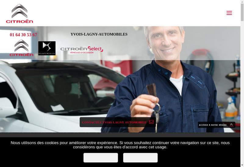 Capture d'écran du site de Yvois Lagny Automobiles
