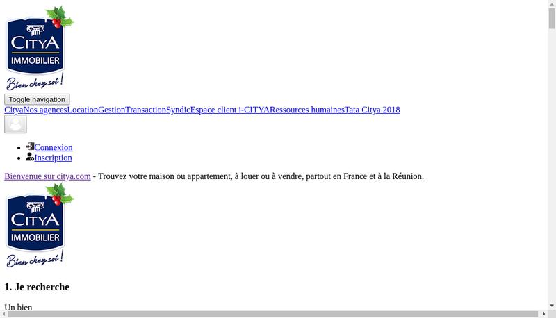 Capture d'écran du site de Citya le Qg