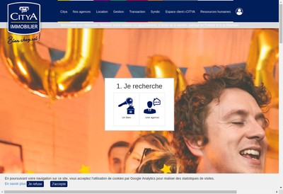 Site internet de Citya Campus