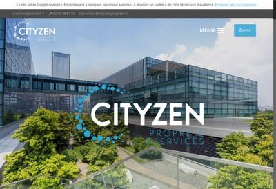 Site internet de Cityzen Proprete et Services