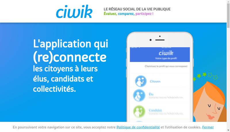 Capture d'écran du site de Ciwik