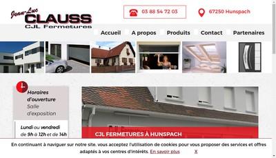 Site internet de Clauss Fermetures