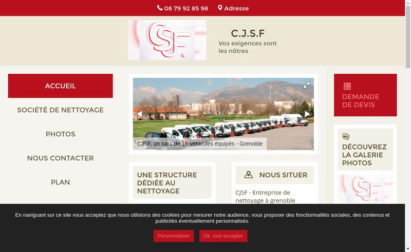 Capture d'écran du site de CJSF