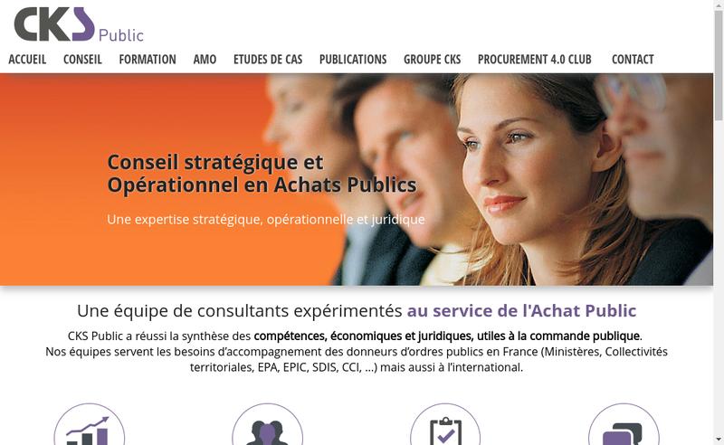 Capture d'écran du site de Cks Public