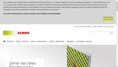 Site internet de Usines Claas France SAS
