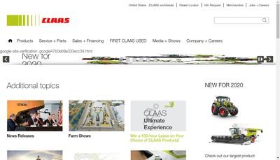 Site internet de Claas Renault Agriculture Claas Parts Distribution