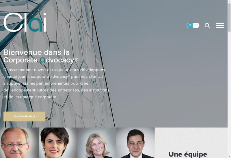 Capture d'écran du site de CLAI