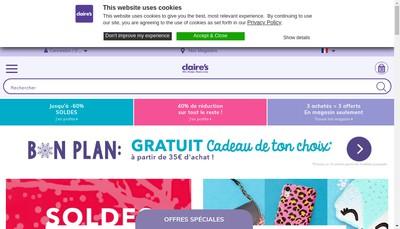 Site internet de Claire - Claire'S