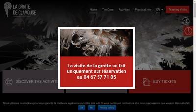 Site internet de Grotte de Clamouse