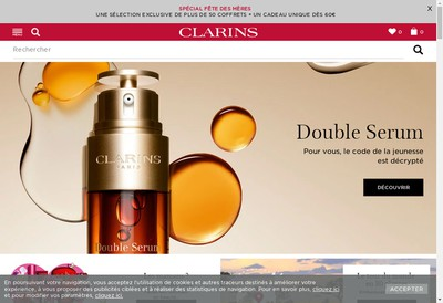 Site internet de Clarins France