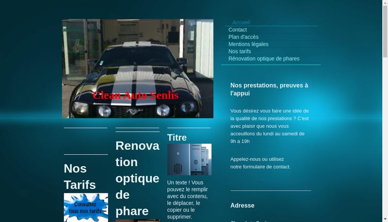 Capture d'écran du site de Clean Auto Senlis