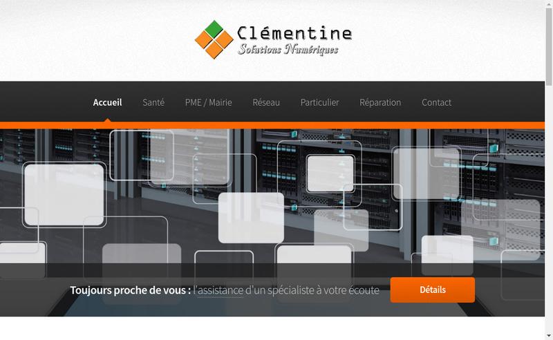 Capture d'écran du site de Clementine Solutions Numeriques