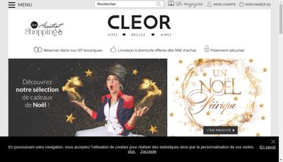 Capture d'écran du site de Cleor