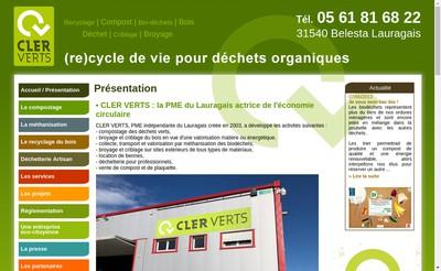 Site internet de Sas Cler Verts