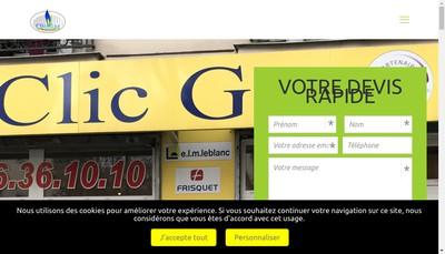 Site internet de Clic-Gaz