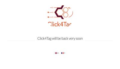 Capture d'écran du site de Click4Tag
