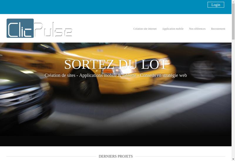Capture d'écran du site de Clicpulse