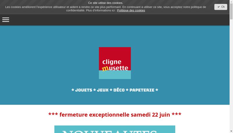 Capture d'écran du site de Cligne-Musette