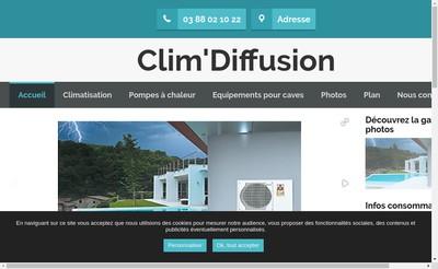 Site internet de Clim'Diffusion