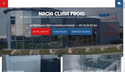 Site internet de Nacia Clima Froid