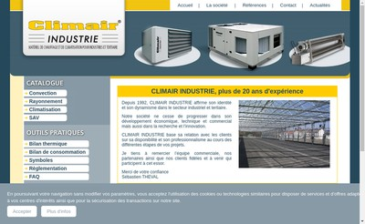 Site internet de Climair Industrie