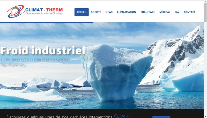 Capture d'écran du site de SARL Climat Therm