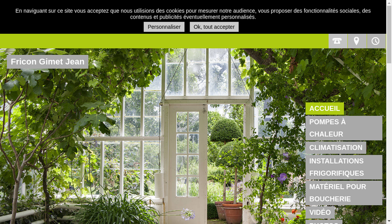 Capture d'écran du site de EURL Fricon Anciens Ets Gimet Jean