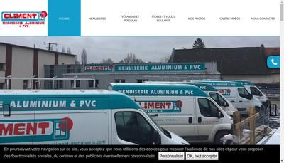 Site internet de Climent Menuiseries Alu Pvc