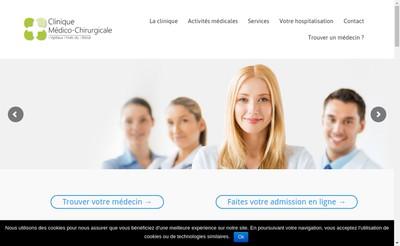 Site internet de Clinique Medico Chirurgicale de Bruay