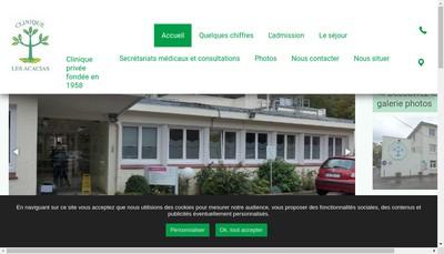 Site internet de Clinique des Acacias