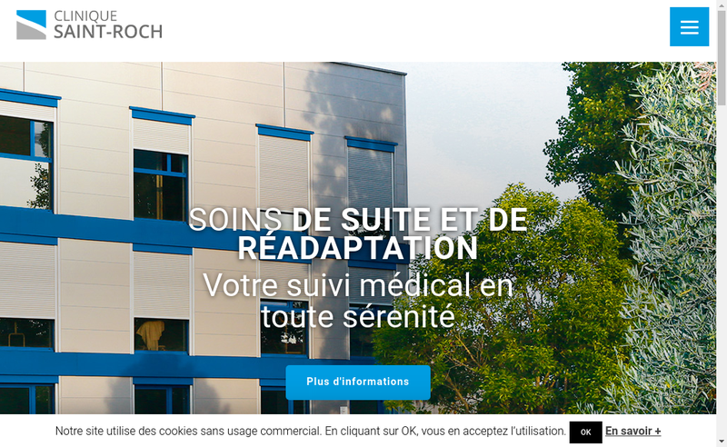 Capture d'écran du site de Clinique Saint-Roch
