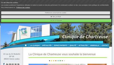 Site internet de SAS Groupe Clinique de Chartreuse