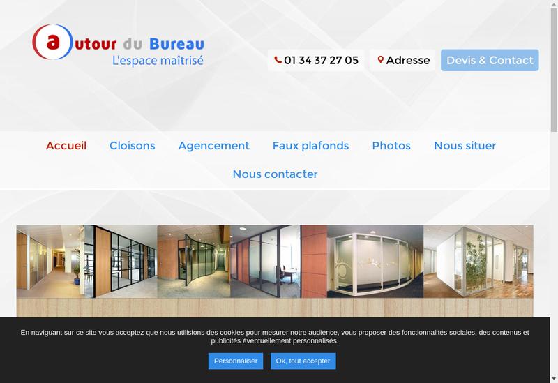 Capture d'écran du site de Autour du Bureau